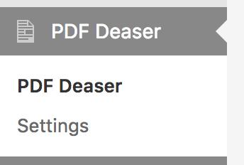 PDF Deaser Menu